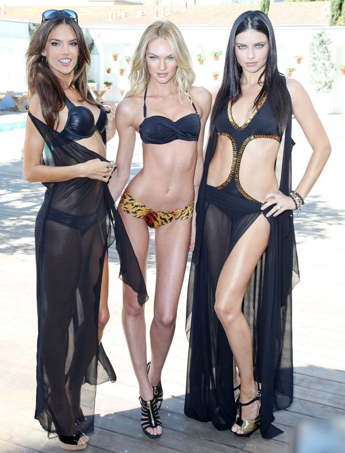 Adriana Lima, Alessandra Ambrosio and Candice Swanepoel в бикини