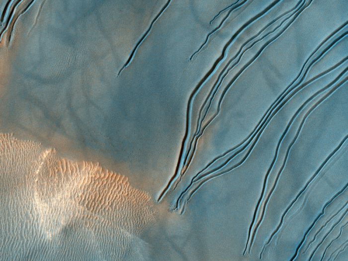 Полноцветная планета Марс.