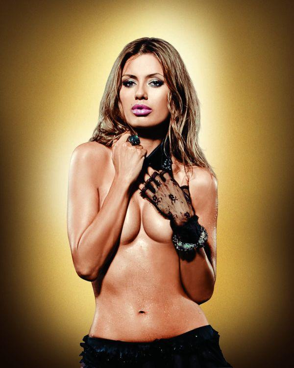 Виктория Боня в Playboy до и после обработки в Фотошопе (12 фото) НЮ