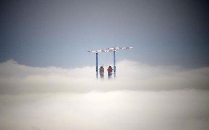 Утренний туман во Владивостоке