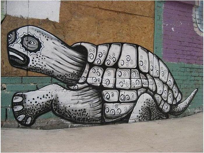 Граффити уличного художника