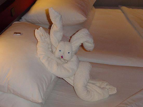 Мишка из полотенец фото