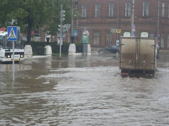 Последствия сильного дождя!