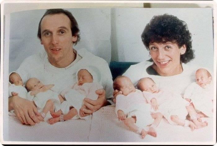 Шесть близняшек (9 фото)