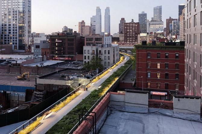 Парк на бывшей линии метро (15 фото)