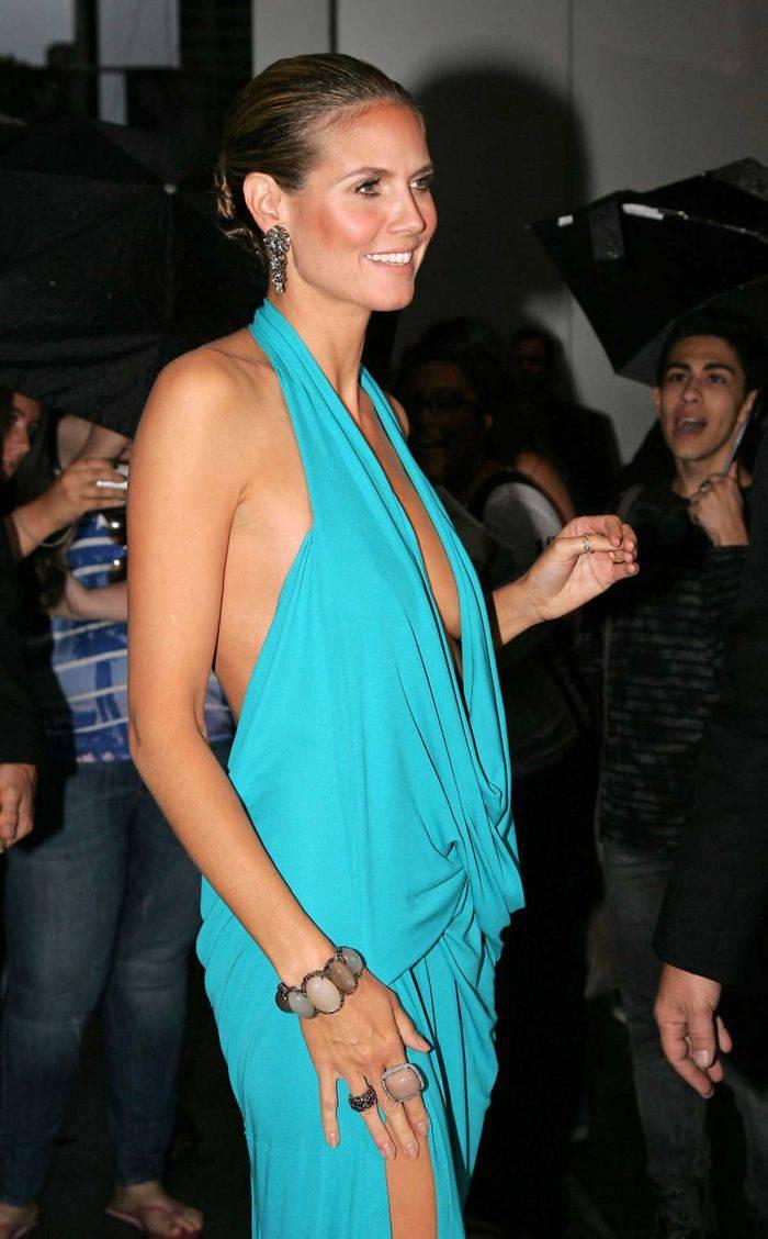 Хайди Клум в очень откровенном платье (6 Фото)