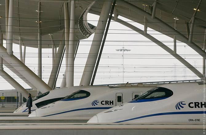 Скоростные поезда в Китае (17 фото)