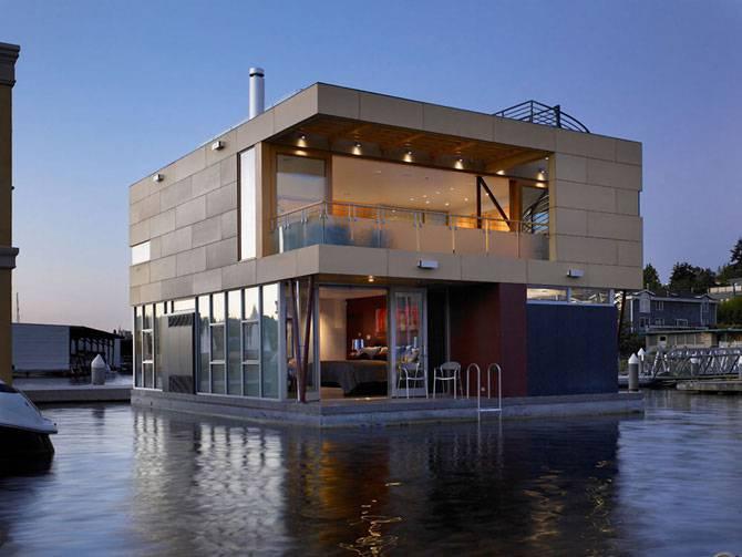 Плавающий дом в Сиэттле, США