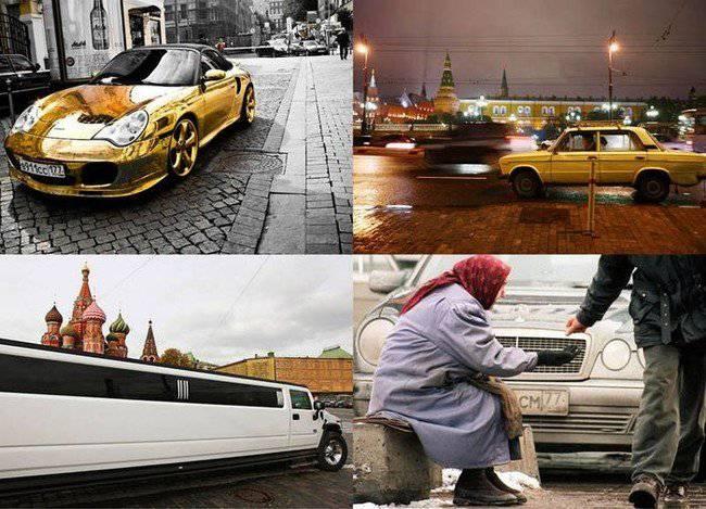 Различия между бедными и богатыми в России