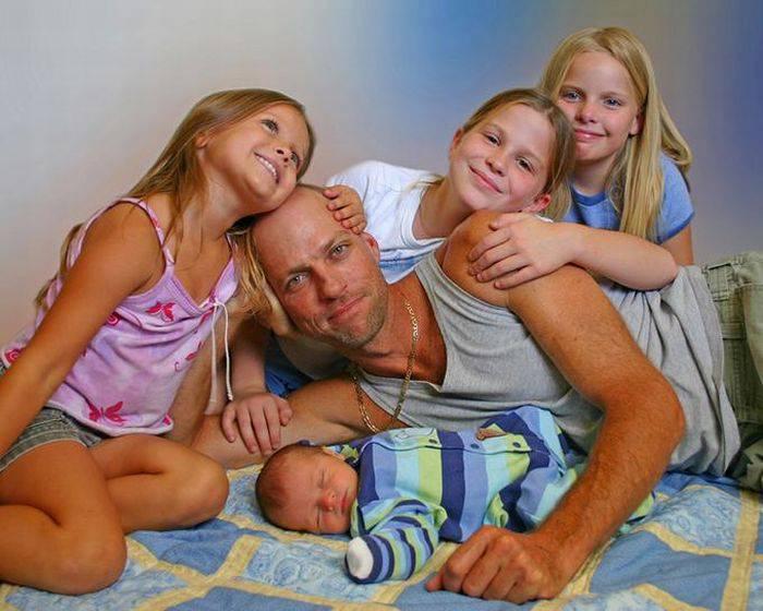 Папы и дети (65 фото)