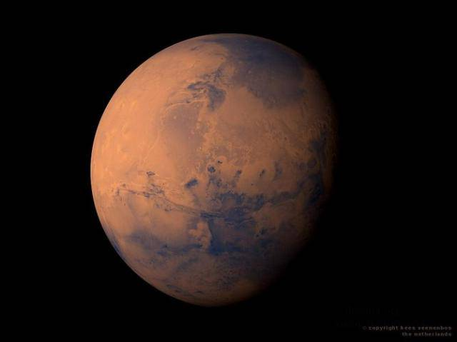 Фото Марса в художественной обработке
