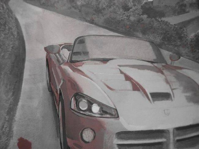Dodge Viper на стене