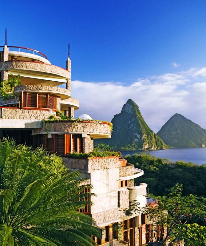 Роскошный отель в Карибском море