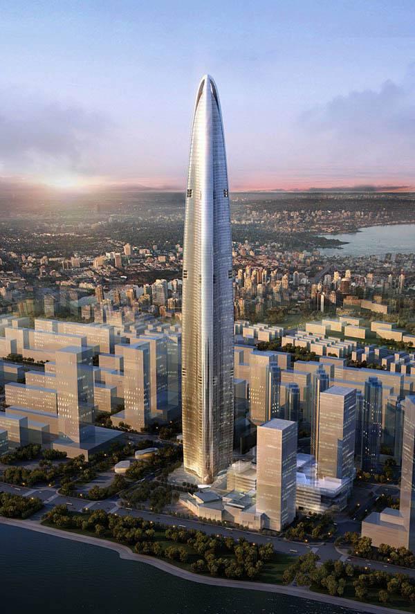Новый небоскреб в 606 метров для Китая