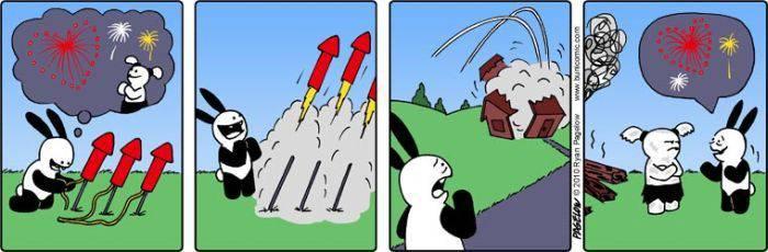Забавные комиксы про кролика