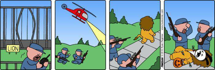 Смешные комиксы про кролика (61 фотография)