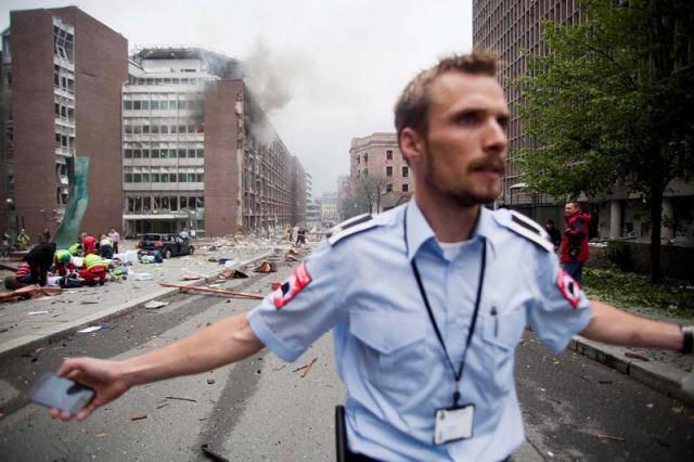 Мощный взрыв в столице Норвегии