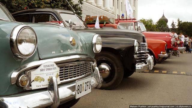 Выставка раритетных автомобилей