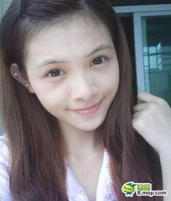 Китаянка даёт уроки макияжа (60 фото)