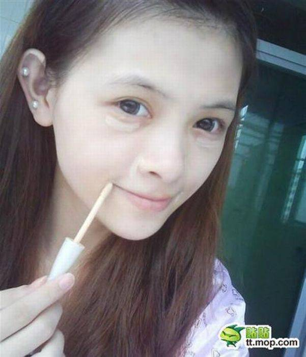 Китаянка даёт уроки макияжа 60 фото