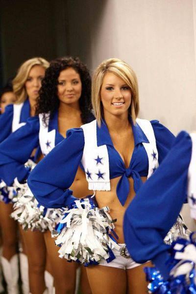 Девушки из группы поддержки Dallas Cowboys