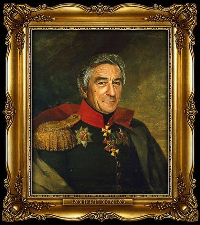 Известные звезды в форме русских генералов