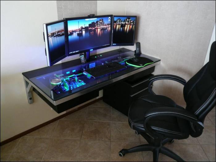Компьютерный стол своими руками (68 фото)