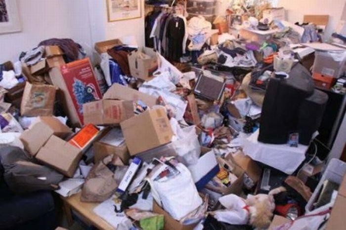 Грязные квартиры американцев (25 фото)