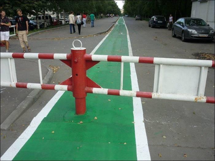 Московские дорожки для велосипедистов (14 фото)