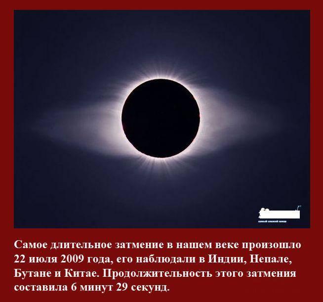 Интересное о солнечных затмениях