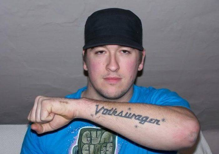 Татуировки в честь Volkswagen (23 фото)