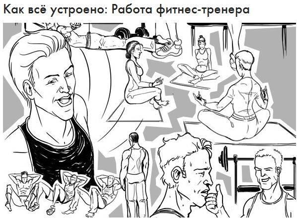 Работа фитнес-тренера (11 картинок)