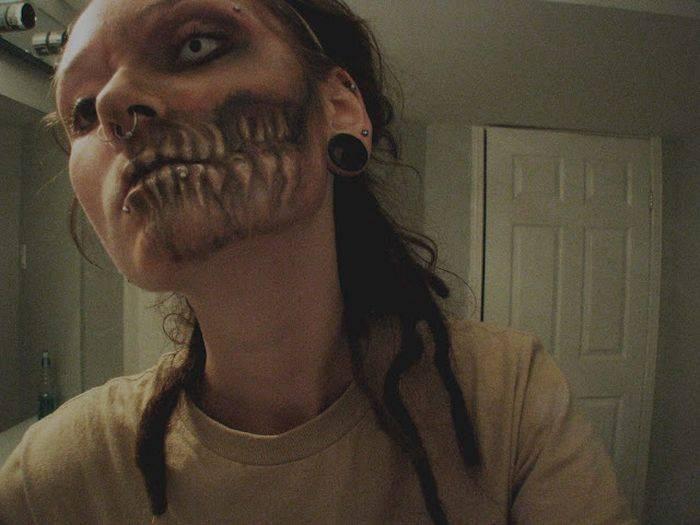 Жуткий макияж-зомби (8 фото)