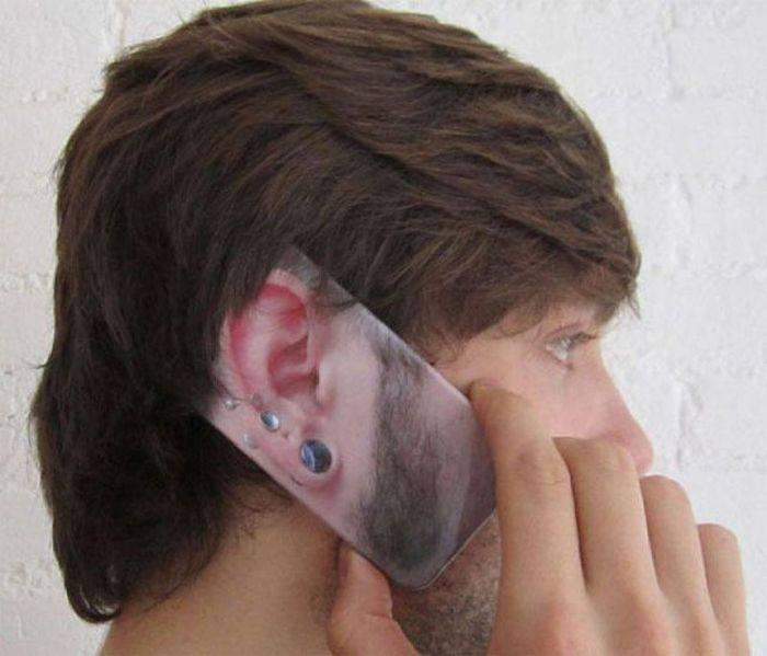 Картинка прикольных ушей, татуировками