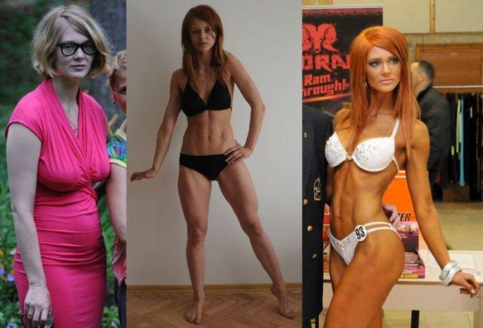 спортзал фото до и после девушки