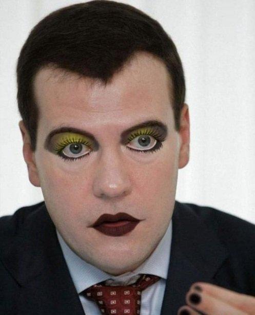 Забавные фотографии накрашенных политиков