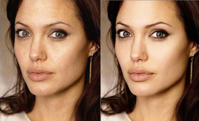 фото звезд до и после фотошопа