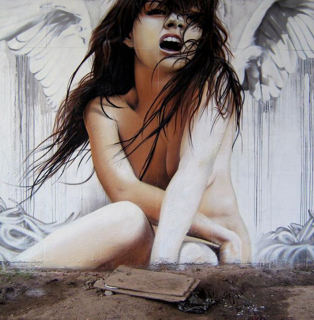 Потрясающе реалистичное граффити в мире (26 фото)