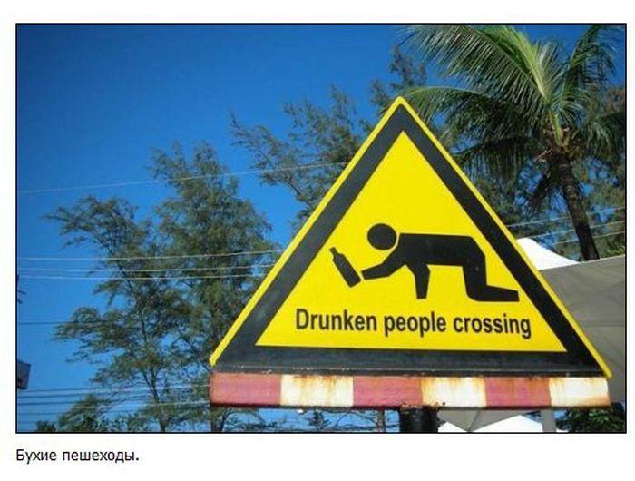 Смешные и нелепые дорожные знаки (38 фото)