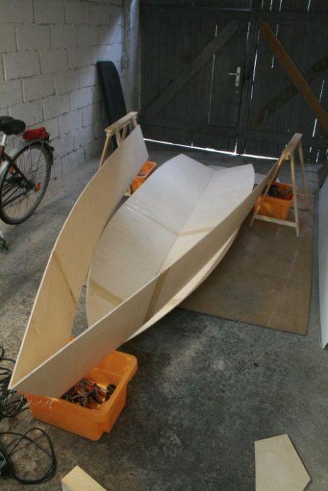 лодки из строй материалов