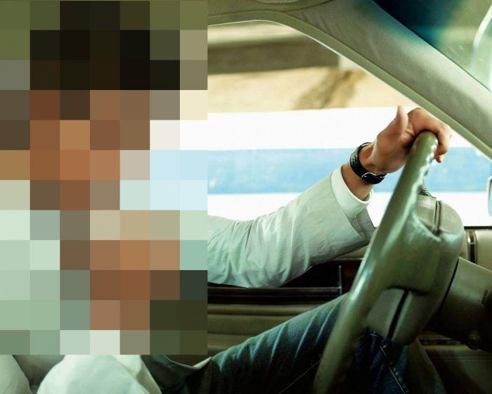 Что делают мужчины за рулем? (4 фото)