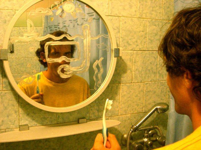 Картинки с зеркалом прикольные, поздравление днем рождения