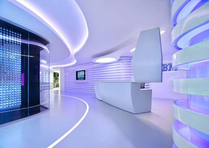 Креативный и футуристический дизайн в офисе IBM (14 фото)