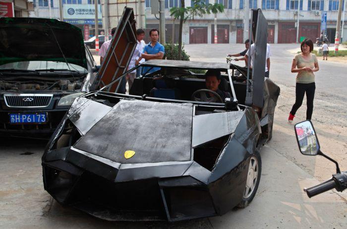 Суперкар Lamborghini Reventon собранный вручную (7 фото)