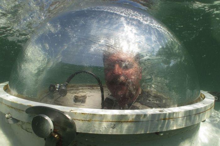 Одессит своими руками построил подводную субмарину