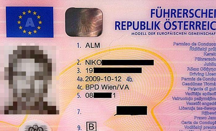 Уникальные водительские права (3 фото)