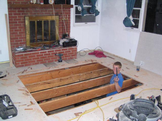 Гидромассажная ванна в гостиной (21 фото)