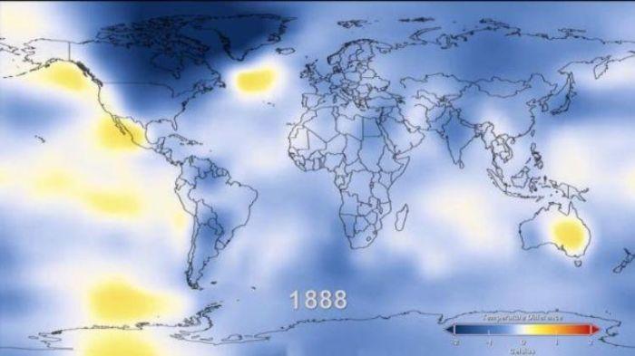 Как изменялась температура нашей планеты за 125 лет