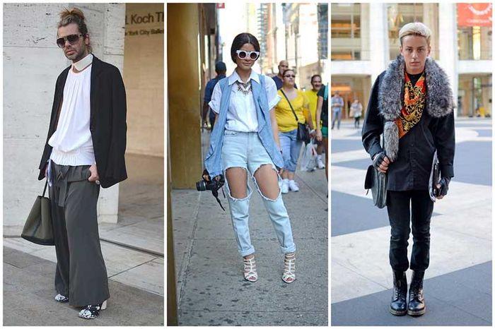 Моднявые люди с Нью-Йоркской недели моды