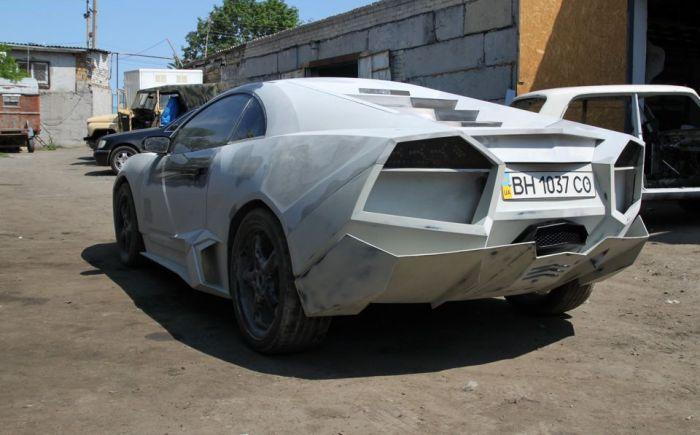 Украинец переделал свою машину в Lamborghini (53 фото)